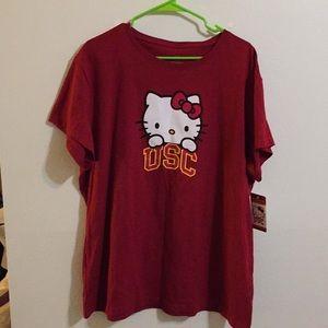 USC Hello Kitty T shirt NWT limited edition XXL